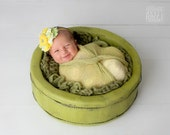 Limeade- ruffle & rosette headband