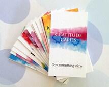Gratitude Cards, Mini Cards, Bookmark, Planner Cards, Set of 20