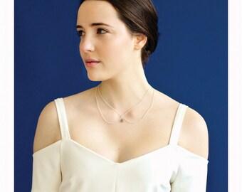 Labradorite Drop Collar Necklace