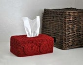 Red Owl Tissue Box Cover Woodland Nursery Decoration  Home Decor Kleenex Box Cover