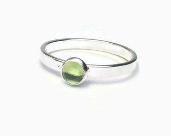 Sterling peridot ring sterling silver stacking ring sterling silver ring stackable gemstone ring stackable ring