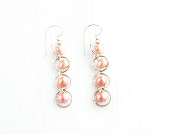 Silky Mother of Pearl and Sterling Silver Earrings