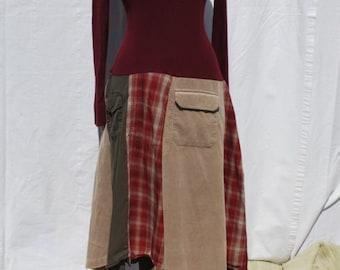 Upcycled sweater dress medium