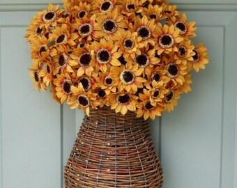 Fall Wreath - Fall Sunflower Wreath - Fall Door Wreath