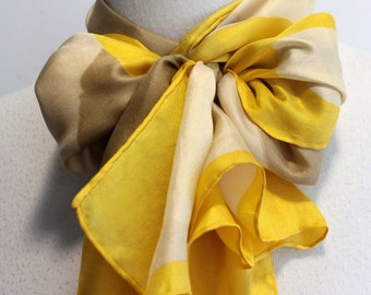Vintage Long Yellow 70s Scarf