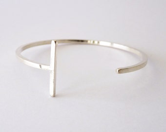 BRACELET cuff sterling silver contemporary jewelry abstract urban geometric circle minimal minimalist - Articular Collection