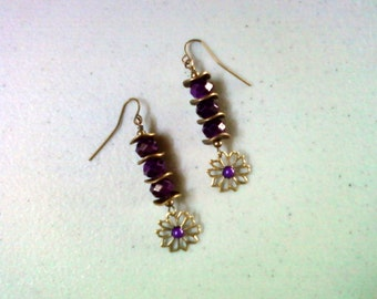 Purple Flower Earrings (1240)