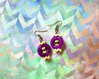 Violet and White Earrings (2108)