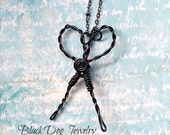 Wire Scissors Necklace - Running with Scissors - Wire Wrap Jewelry - Hairdresser Gift - Hairstylist Scissor Necklace