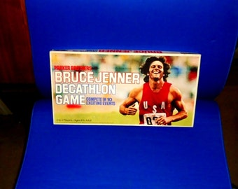 1979 BRUCE JENNER Decathlon Board Game - Parkers Brothers - Nice!