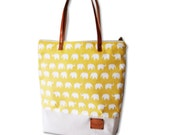 SALE-Totes bag ,leather strap, zip totes -Ready to ship