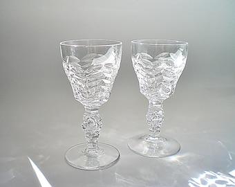Mid Century Cut Crystal Stemware Cordial Liqueur Glasses Royal Leerdam