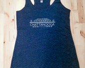Racer Back Tee: Chattanooga in Vintage Navy