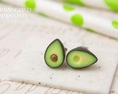 Avocado - Post Earrings