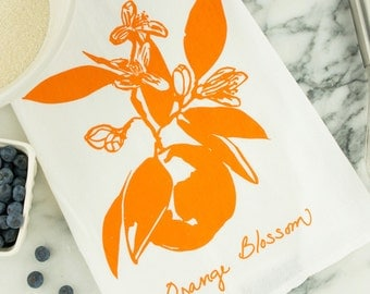 Orange Blossom Tea Towel