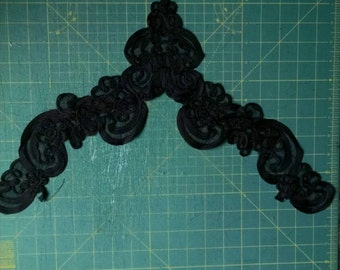 Black soutaches braid on netting perfect for???? Halloween, renaissance, shabby chic.....