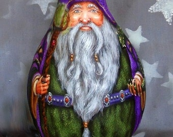 NEW lower price Making Magic Happen, Wizard, Dragon gourd, 14 inches tall