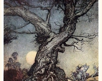 Fairy Folk, Arthur Rackham, Vinatge Art Print