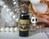 Deadly Nightshade Glass potion vial Necklace