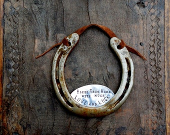 The Love and Luck Horseshoe™ Traditional Symbol. Southern. Rustic Welcome. Equestrian Decor.  Barn Wedding. Equine Style. Housewarming Gift