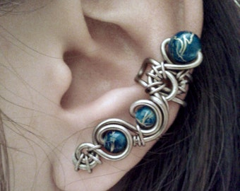 SALE - Distant Storm Ear Cuff