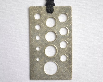 Not Quite Perfect *Holes Misaligned/Not Perfect* Knitting Needle Gauge Sterling Silver on Cotton Cord by Knitpurletc