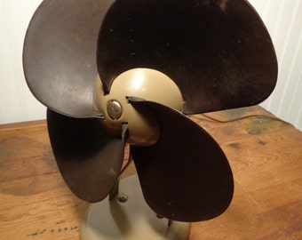 Vintage Samson Monroe Fan, Model H142 - Rubber Blades Metal Table Fan  -  15-006