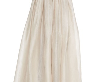 Bridal skirt, floor length, maxi organza full skirt 2 layers of organza over satin. High quality High fashion Made to order