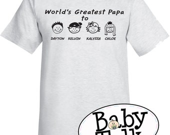 Dad or Grandpa PERSONALIZED shirt - personalized with kids names for grandpa, papa, pops, pappous - fathers day or birthday