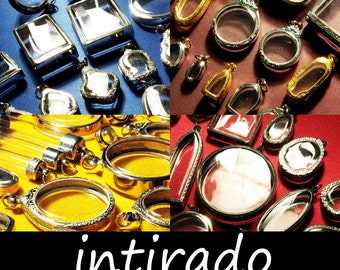 DISCOUNTED!! Intirado, Reliquary, Wholesale Pendants, Clear Locket, Vial, Planter, Shadow Box Pendant, Craft Supplies, 25pcs Randomly Picked