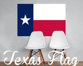 Texas Flag Wall Decal Printed Fabric Peel and Stick Wall Cling The Lone Star State Wall Art WAL-2247