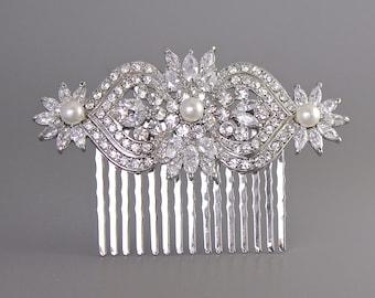 Deco Crystal Hair Comb, Crystal Bridal Hair Comb, Bridal Hair Clip, Crystal Hair Piece,  Wedding Accessories,  TAYLOR