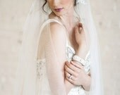 Bridal Veil, Juliet Cap Veil, Lace Wedding Veil, Floor length Veil, Double Layer Veil,  Bridal Veil, Tulle Veil,