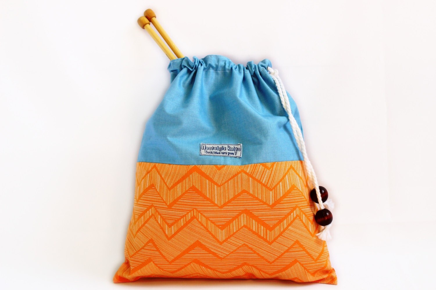 Knitting Project Bags To Sew : Knitting bag project drawstring by nostalgiaknits