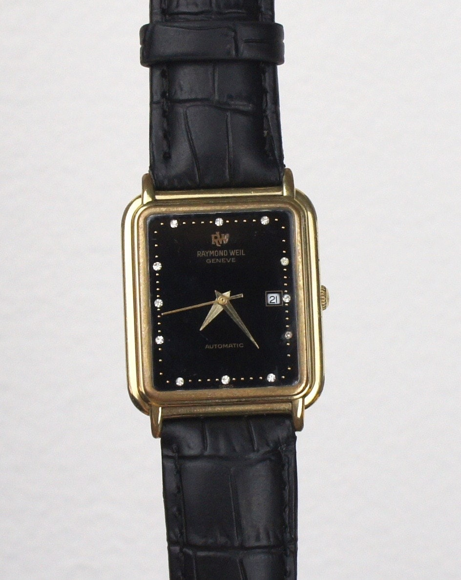Vintage Raymond Weil Geneve Gold Plated Men S Or
