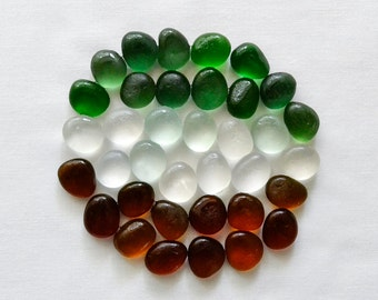 English Sea glass - Basic colours - Lot DC693