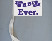 Best Day Ever Sign | Wedding Banner | Custom Wedding Date | Flower Girl Flag Ring Bearer Page Boy Signs Customizable | Modern Wedding USA