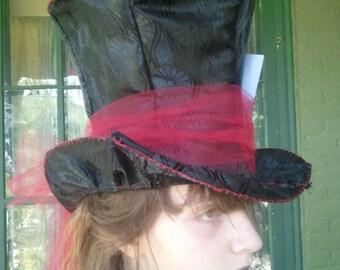 The Sweeney Todd Top Hat: Sweeney Todd Costume Sweeney Todd Hat Tim Burton Costume Tim Burton Hat Victorian Dark Macabre