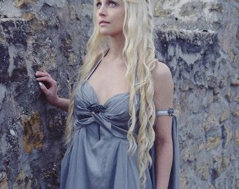 Khaleesi Costume Wig / Twists + Long Wavy Curls Lace Front Wig / White Platinum Blonde Daenerys Targaryen Game of Thrones / Lady Series