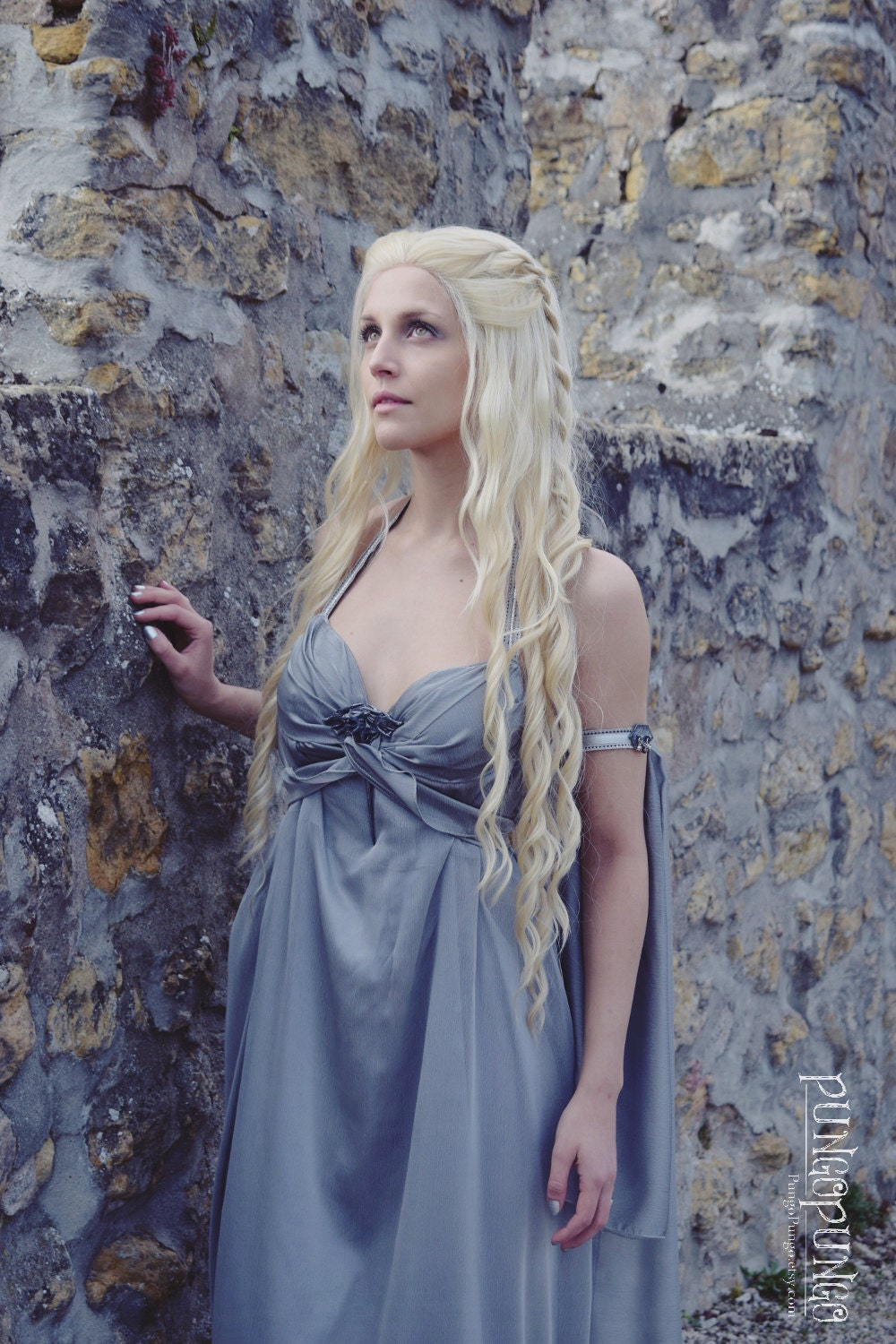 Khaleesi Costume Wig Twists Long Wavy Curls Lace Front Wig