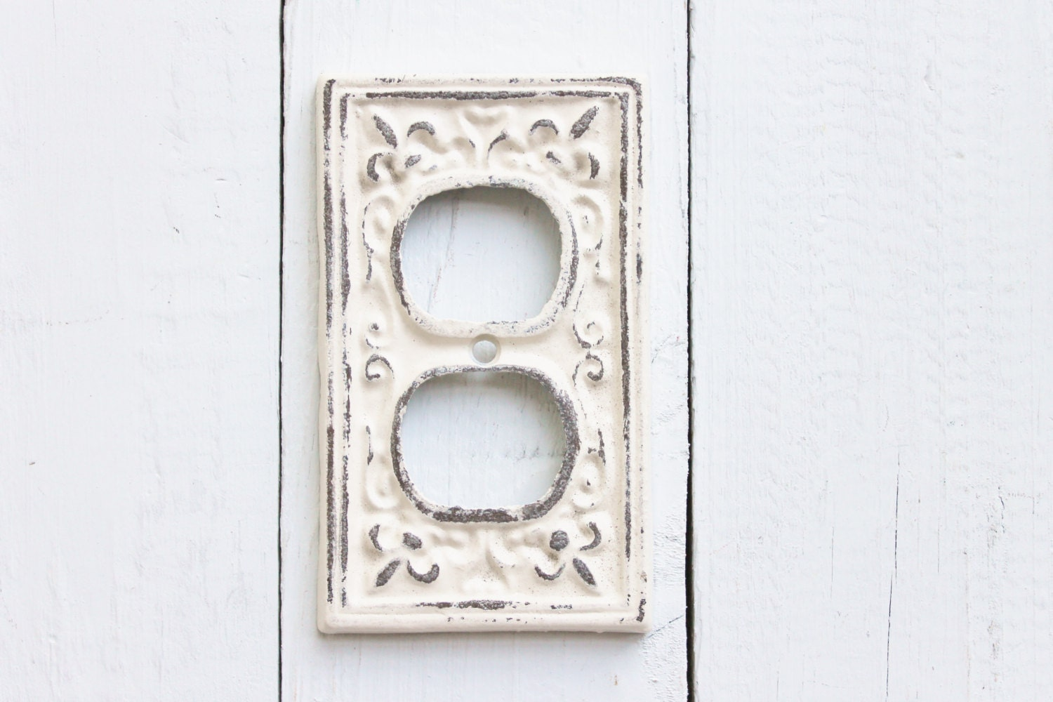 creamy antique white outlet socket by alacartcreations on etsy