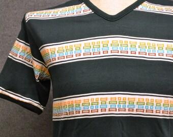 1970s Men's Striped Tee Shirt
