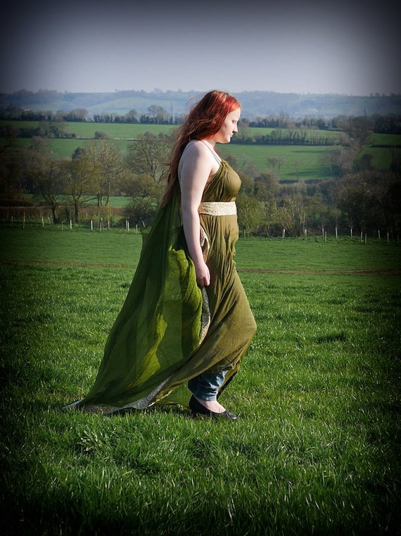 Landing dress. Sheer summer maxi