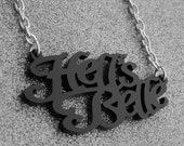 Hell's Belle Necklace Hell's Bells Gothic Goth Horror Heavy Metal Satan Hell Satanic Devil Punk Rock n Roll Rocker Rock and Roll Black