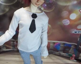 MARKDOWN Fake Tie 70cm BJD t-shirt