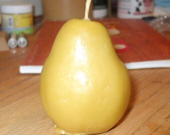 Pure Beeswax Pear Shaped Candle