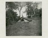 "Vintage Photo ""House on Quicksand Hill"" Snapshot Photo Antique Photo Black & White Photograph Found Photo Paper Ephemera Vernacular - 174"