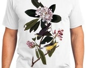 Canada Warbler Bird Retro Men & Ladies T-shirt - Gift for Bird Lovers and Ornithologist (idc103)