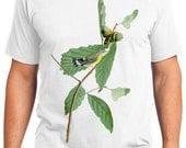 Black Yellow Warbler Bird Retro Men & Ladies T-shirt - Gift for Bird Lovers and Ornithologist (idc050)