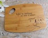 Personalized Wood burned Cutting Board   LAKESIDE CABIN design
